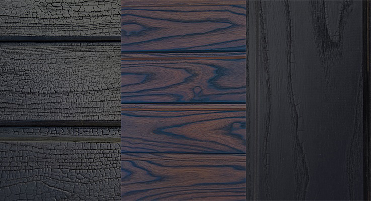 Charred Thermowood Sample Textures